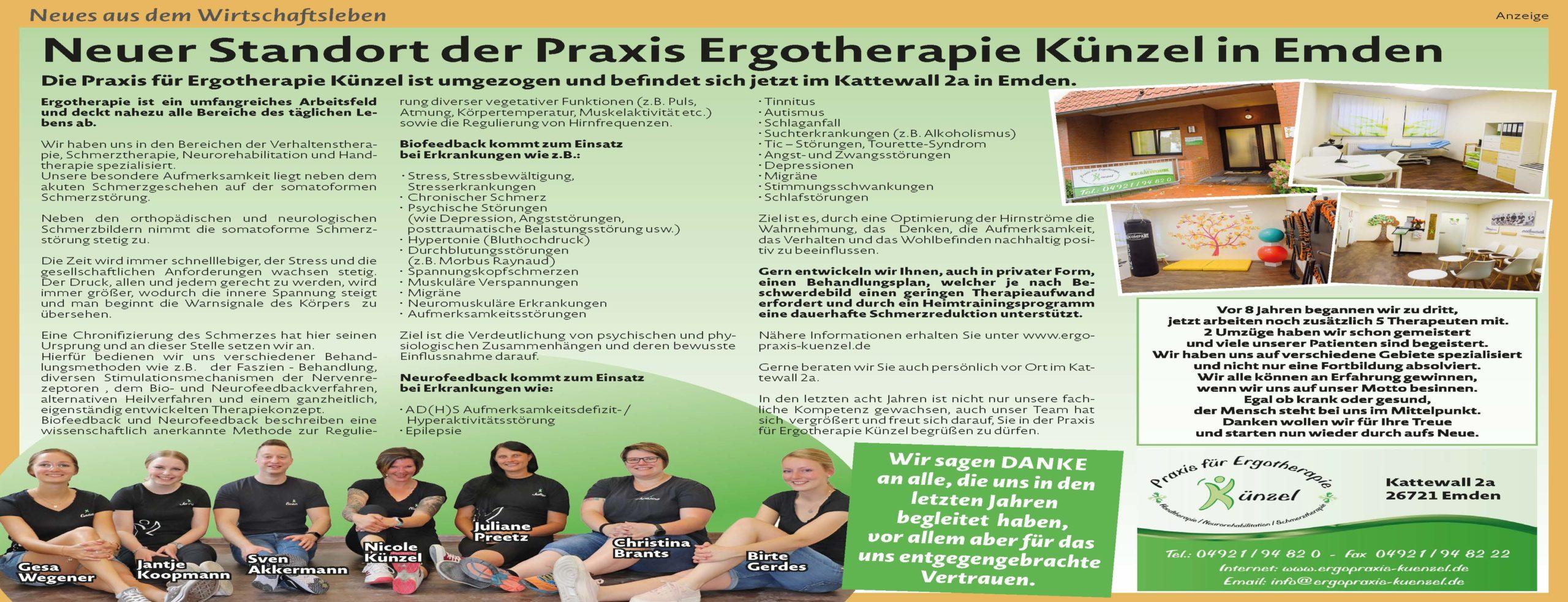 Ergopraxis Nicole Künzel Ergotherapie Emden
